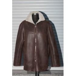 Pánská kožešinová bunda - hnědá