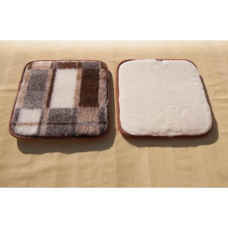 Podsedáky - kůže 50 x 50 cm