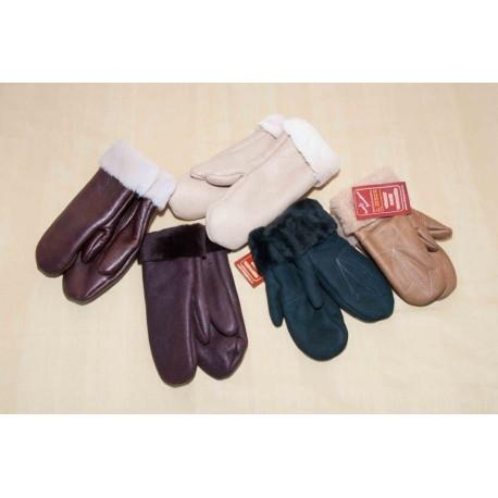 Kožešinové rukavice - dámské