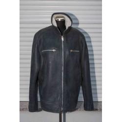 Pánská kožešinová bunda - šedá