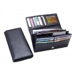dámská psaníčková kožená peněženka s klopnou
